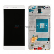 For Huawei Honor 7 LCD Screen and Digitizer Assembly with Front Housing Replacement - White - Without Logo - Grade S+
