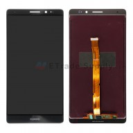 For Huawei Mate 8 LCD Screen and Digitizer Assembly Replacement - Black - With Logo - Grade S+
