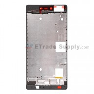 For Huawei P8 Front Housing Replacement - Black - Grade S+