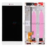 For Huawei P8 LCD Screen and Digitizer Assembly with Front Housing Replacement - White - Without Logo - Grade S+