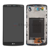 For LG G3 VS985 LCD Screen and Digitizer Assembly with Front Housing  Replacement (No Small Parts) - Black - With Logo - Grade S+
