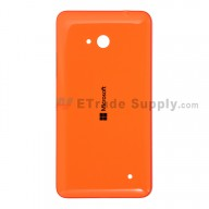 For Microsoft Lumia 640 LTE Dual SIM Battery Door  Replacement - Orange - With Logo - Grade S+