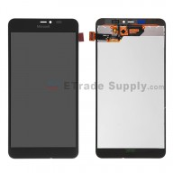 For Microsoft Lumia 640 XL LTE Dual SIM LCD Screen and Digitizer Assembly  Replacement - Black - With Logo - Grade S+