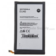 For Motorola Droid Ultra XT1080 Battery Replacement (EU40) - Black - Thick - Grade R