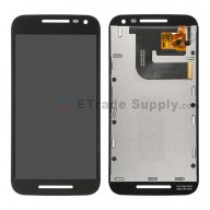 For Motorola Moto G3 LCD Screen and Digitizer Assembly Replacement - Black - Without Logo - Grade S+