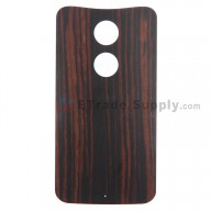 For Motorola Moto X (2nd Gen.) XT1095, XT1097 Ebony Finish Battery Door Replacement - Without Any Logo - Grade S+