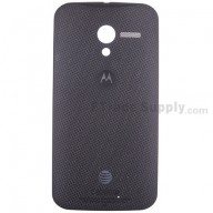 For Motorola Moto X XT1058 Woven Battery Door Replacement - Black - Grade S+