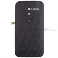 For Motorola Moto X XT1058 Woven Battery Door Replacement - Black - With Logo - Grade S+