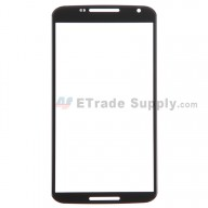 For Motorola Nexus 6 Glass Lens Replacement - Black - Without Logo - Grade R