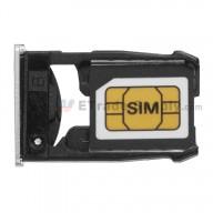 For Motorola Nexus 6 SIM Card Tray  Replacement - Silver - Grade S+