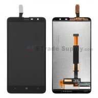 For Nokia Lumia 1320 LCD Screen and Digitizer Assembly  Replacement - Black - With Logo - Grade S+