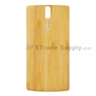 For OnePlus One Battery Door Replacement - Bamboo - Grade S+