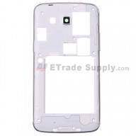 For for Samsung Galaxy Grand 2 SM-G7102 Rear Housing Replacement - White - Grade S+