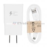 For Samsung Galaxy Note 4 Series Adapter and USB Data Cable Replacement (US Plug) - White - Grade R