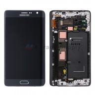 For Samsung Galaxy Note Edge SM-N915/Samsung-N915T LCD Screen and Digitizer Assembly with Front Housing Replacement - Black - With Logo - Grade S+