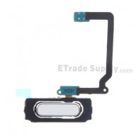 For Samsung Galaxy S5 Mini SM-G800F/G800H Home Button with Flex Cable Ribbon Replacement - White - Grade S+
