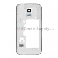 For Samsung Galaxy S5 Mini SM-G800F Rear Housing Replacement - Black - Grade S+