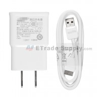 For Samsung Galaxy S5 Series Charger and USB Data Cable - White - Grade S+