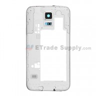 For Samsung Galaxy S5 SM-G900V Rear Housing - White Ear Speaker Mesh Cover Replacement - Grade S+