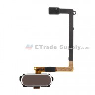 For Samsung Galaxy S6 Series Home Button Flex Cable Ribbon Replacement - Gold - Grade S+