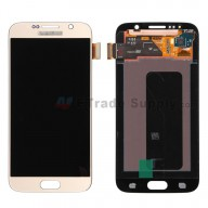 For Samsung Galaxy S6 SM-G920/G920A/G920P/G920R4/G920T/G920F/G920V LCD Screen and Digitizer Assembly Replacement - Gold - With Logo - Grade S+