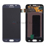For Samsung Galaxy S6 SM-G920/G920A/G920P/G920R4/G920T/G920F LCD Screen and Digitizer Assembly Replacement - Sapphire - With Logo - Grade A