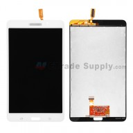 For Samsung Galaxy Tab 4 7.0 Samsung-T230 LCD Screen and Digitizer Assembly Replacement - White - With Logo - Grade S+