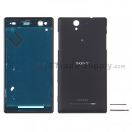 For Sony Xperia C3 Housing Replacement - Black - Grade S+