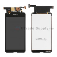 For Sony Xperia E4g LCD Screen and Digitizer Assembly Replacement - Black - With Logo - Grade S+