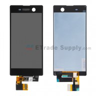 For Sony Xperia M5 LCD Screen and Digitizer Assembly Replacement - Black - With Logo - Grade S+