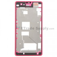 For Sony Xperia Z1 Compact Front Housing Replacement - Pink - Grade S+