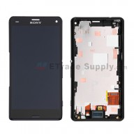 For Sony Xperia Z3 Compact LCD Screen and Digitizer Assembly with Front Housing Replacement - Black - Grade S+