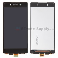 For Sony Xperia Z3+ LCD Screen and Digitizer Assembly  Replacement - Black - With Logo - Grade S+