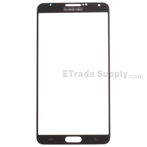 For Samsung Galaxy Note 3 N9006/N900/N9005/N900A/N900P/N900T/N900V/N900R4 Glass Lens Replacement - Black - Grade S+