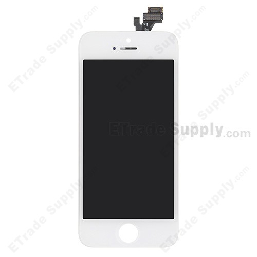 For Apple iPhone 5 LCD Screen and Digitizer Assembly with Frame - White - Grade A