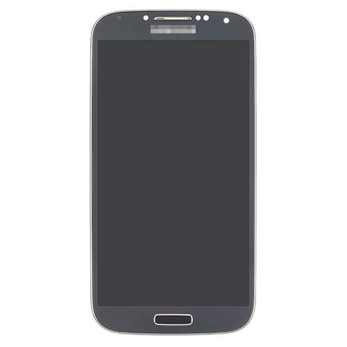 For Samsung Galaxy S4 GT-I9500 LCD Screen and Digitizer Assembly with Front Housing Replacement - Black - With Logo - Grade S+