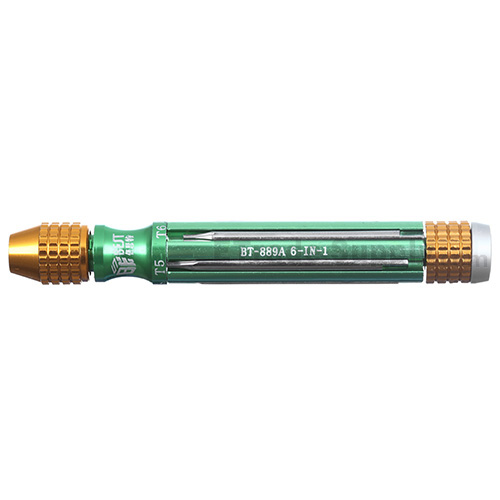 For Multi-function Screwdriver Opening Tool for Mobile Phone(BT-889A 6-IN-1) - Green