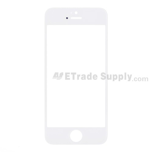 For Apple iPhone 5 Glass Lens Replacement - White - Grade S+