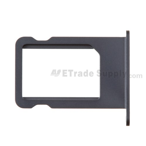 For Apple iPhone 5 SIM Card Tray Replacement - Black - Grade S+