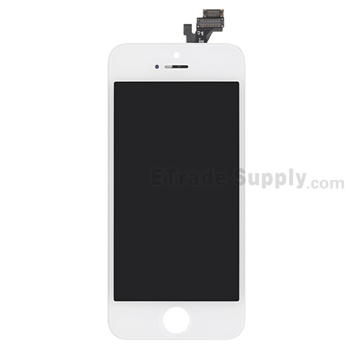 For Apple iPhone 5 LCD Screen and Digitizer Assembly with Frame Replacement - White - Grade S