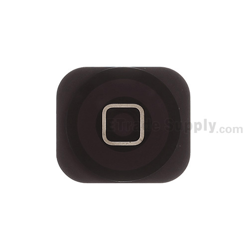 For Apple iPhone 5C Home Button Replacement - Black - Grade S+