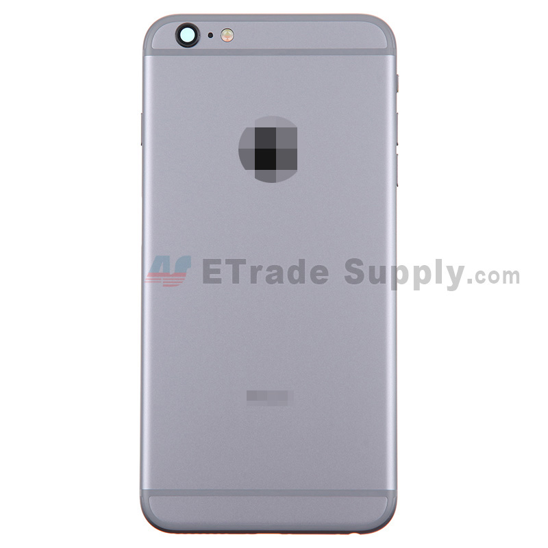 For Apple iPhone 6 Plus Rear Housing Assembly Replacement - Gray - Without Words - Grade S+