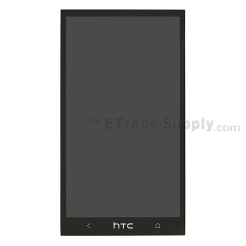 For HTC One LCD Screen and Digitizer Assembly Replacement - Black - With Logo - Grade S+