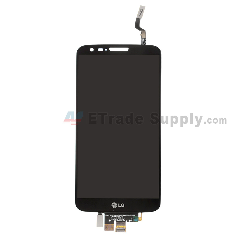 For LG G2 D800 LCD Screen and Digitizer Assembly Replacement - Black - With Logo - Grade S+