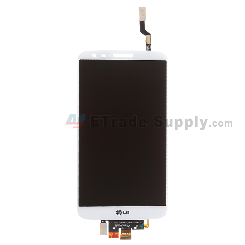 For LG G2 D800 LCD Screen and Digitizer Assembly Replacement - White - With Logo - Grade S+