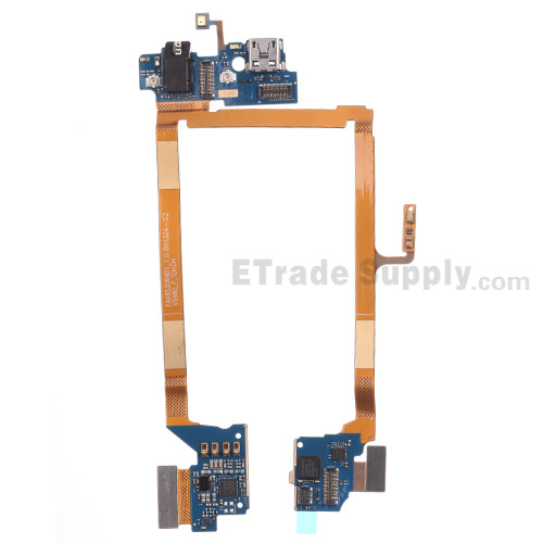 For LG G2 VS980 Charging Port Flex Cable Ribbon with Earphone Jack  Replacement - Grade S+