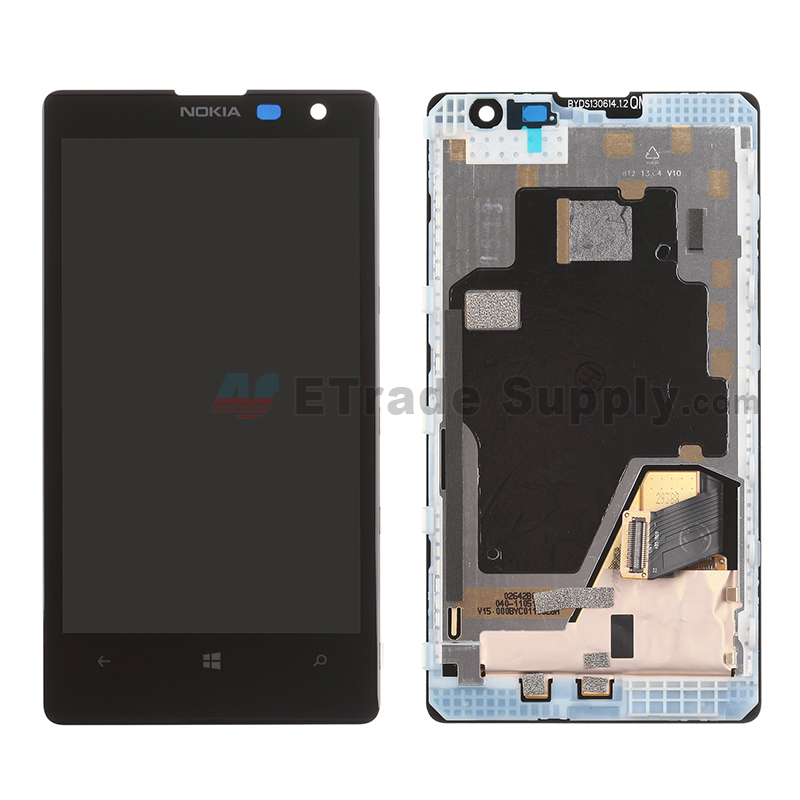 For Nokia Lumia 1020 LCD Screen and Digitizer Assembly with Front Housing Replacement - With Logo - Grade S+