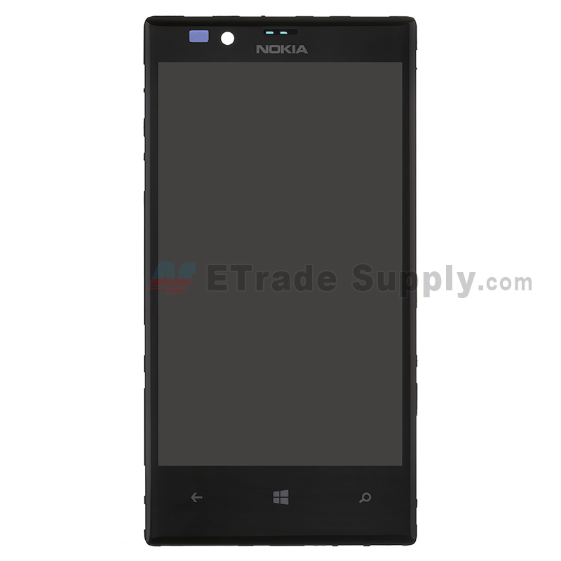 For Nokia Lumia 720 LCD Screen and Digitizer Assembly with Front Housing Replacement - With Logo - Grade S+