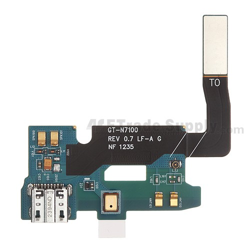 For Samsung Galaxy Note II N7100 Charging Port Flex Cable Ribbon Replacement - Grade S+