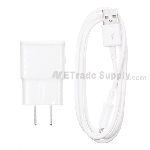 For Samsung Galaxy Note Series Adapter and USB Data Cable - White - Grade S+